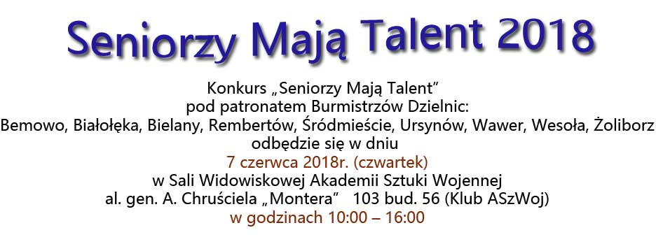 Seniorzy Mają Talent 2018